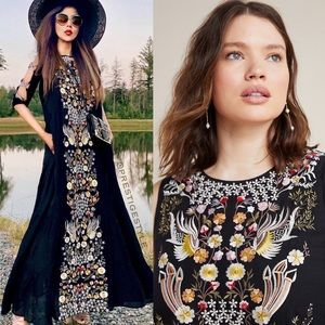 ANTHROPOLOGIE Jacaranda Tiered Maxi Dress